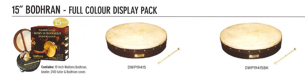 "15"" Bodhran Packs for $89.00"