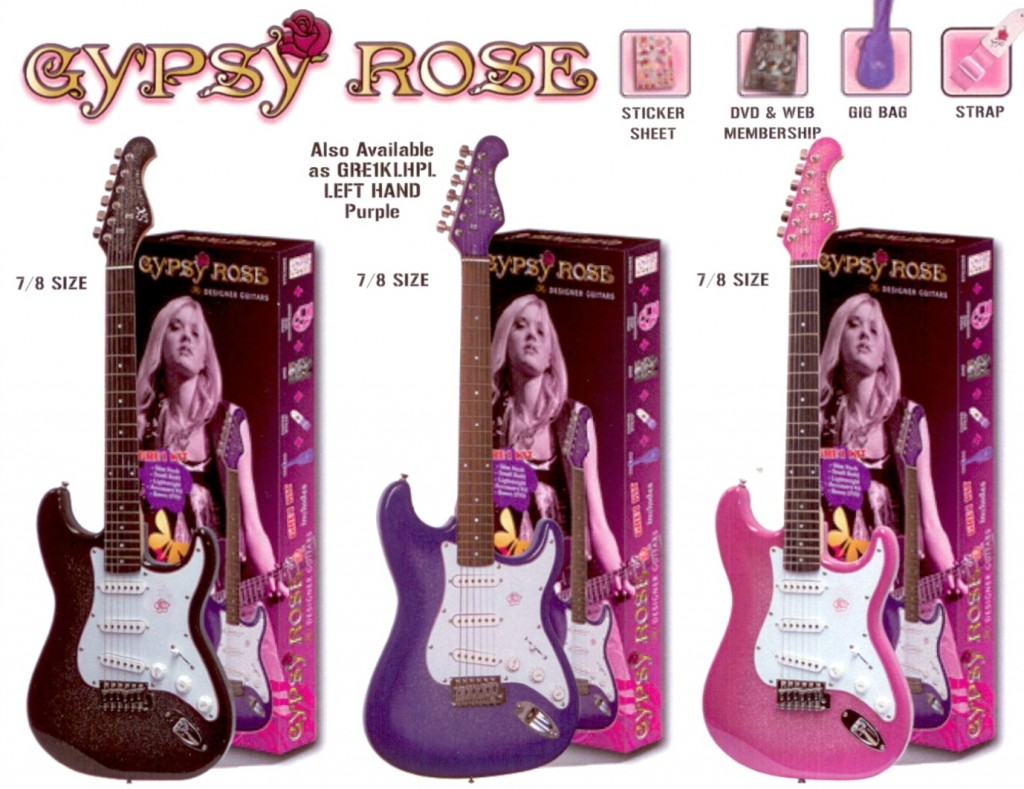 Gypsy Rose Electric Guitar (3 great colours) $239