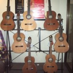 Window with the Spanish Made Alhambra Classical Guitars