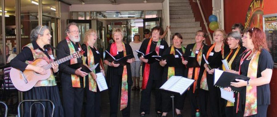 Cooma Harmony Chorus sings in The Australian National Busking Championships 2013