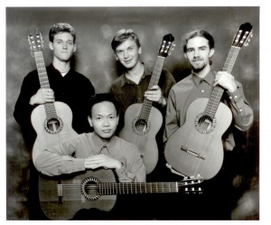 ANU School of Music guitar students (picured a very young Minh Le Hoang & Luke Tierney)