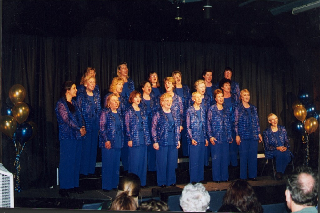 Cooma Harmony Chorus, singing in harmony.