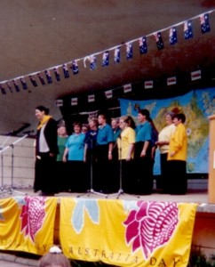 Cooma Harmony Chorus singing at Australia Day