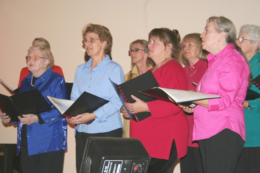 Cooma Harmony Chorus singing at the Cooma Music Competition 2006