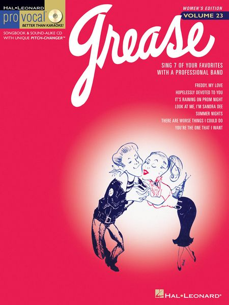 Code: 740369 Grease-This Women's edition includes 7 songs from the hit musical, including: Freddy, My Love • Hopelessly Devoted to You • It's Raining on Prom Night • Look at Me, I'm Sandra Dee • Summer Nights • There Are Worse Things I Could Do • You're the One That I Want.