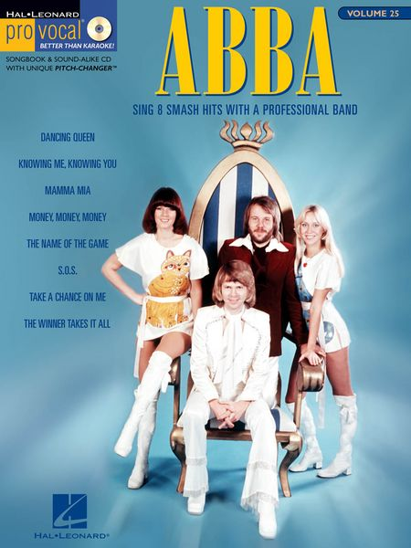 Code: 740367 ABBA -This Women's Edition includes 8 megahits: Dancing Queen • Knowing Me, Knowing You • Mamma Mia • Money, Money, Money • The Name of the Game • S.O.S. • Take a Chance on Me • The Winner Takes It All. $29.95