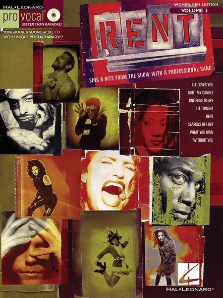 Code: 740407 Rent-This volume includes 8 songs from the show: I'll Cover You • Light My Candle • One Song Glory • Out Tonight • Rent • Seasons of Love • What You Own • Without You.$31.95