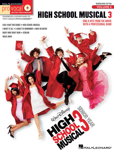 Code: 740414 High School Musical 3-songs for both male and female voices. 8 titles include: Can I Have This Dance • High School Musical • I Want It All • A Night to Remember • Now or Never • Right Here Right Now • Scream • Walk Away. $31.95