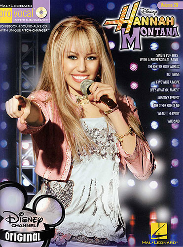Code: 740375 Hannah Montana-This volume includes 8 top hits from the show 'Hannah Montana': The Best of Both Worlds, I Got Nerve, If We Were a Movie, Life's What You Make It, Nobody's Perfect, The Other Side of Me, We Got the Party, and Who Said.