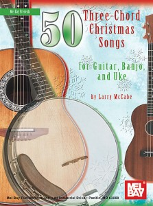 "Code: 505990 $19.95  With the Three-Chord Christmas Songbook you will need only minimal playing skills and three chords - G, C, and D7 - to accompany each song in this great book. The jam-packed book is invaluable for all beginning musicians, casual musicians, teachers, family bands, and performers. Melody, lyrics, and chords are included for all songs. Guitar, uke, and five-string banjo diagrams are included for the three chords, along with basic accompaniment tips. Transposing and how-to-use-the-capo tips are included for singers. An invaluable sourcebook for teachers - and a handy, compact fakebook for performers. A unique collection of timeless songs for the entire family. Accompany 50 vibrant Christmas songs with only minimal playing skills. Each song includes melody, lyrics, and chords. Perhaps the most interesting collection of Christmas songs to be found in print today. Interesting historical images are found throughout the text. A superb book for getting beginners involved and keeping them involved. Only a few minutes of technical training equips any person to accompany all 50 songs in this book. Teachers can use this collection as a foundation to teach more advanced patterns and arranging techniques. Excellent ""mini fake book"" resource for all musicians and performers."