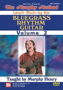 Code: 506190 $59.95   By Murphy Henry. For Guitar (Flatpicking). Rhythm/Backup. Learn Music by Ear. Bluegrass. Beginning. DVD. Duration 88. Published by Murphy Method (MB.21968DVD).  Bluegrass Rhythm Guitar Vol. 2 (formerly titled Basic Bluegrass Runs on Guitar Vol. 2): Tired of playing out of G and C position all the time? Ready to try some different keys? This video introduces the keys of D, A, and E and shows you plenty of new and exciting runs to use in these keys. We also explain the all-important Lester Flatt G run! Best of all, we include a long lesson on using the capo to play in different keys. A fabulous video for guitar players who feel like they are stuck in a rut. Jam-packed with information you won't find anywhere else! No Tab.