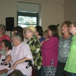 cooma harmony chorus sang for the bushdance