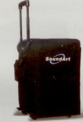 Soundart PWA Compact PA with protective cover & retractable handle & wheels