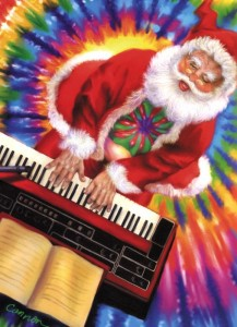 santa and keyboard