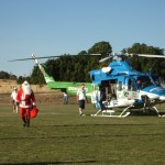 Santa arriving care of the South Care Helicopter