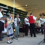 Salvation Army performing for carols