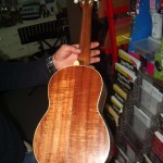 Tenor uke made from beautiful Tasmanian Blackwood