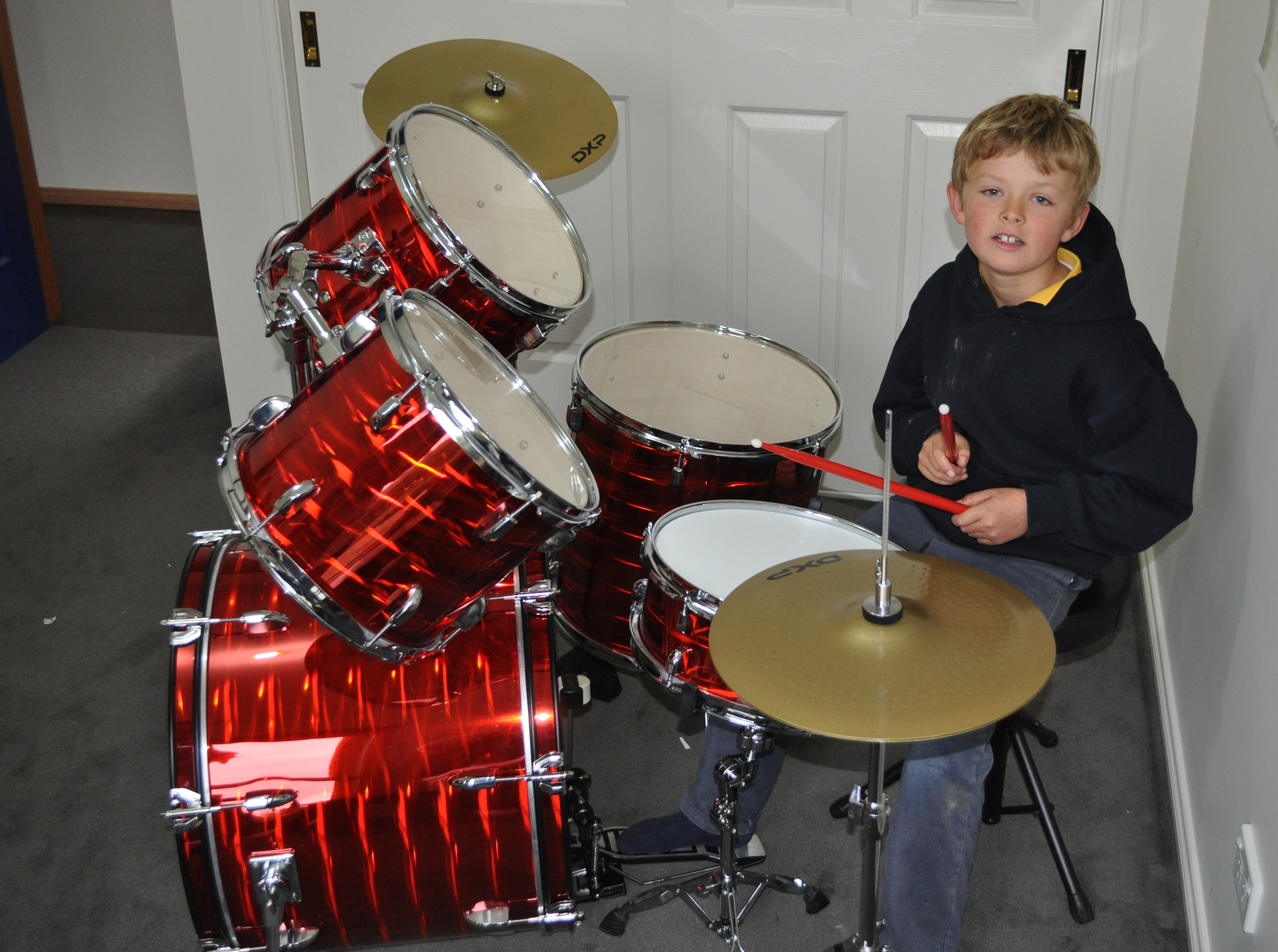 Harry gets a cool new drum kit   coomamusic