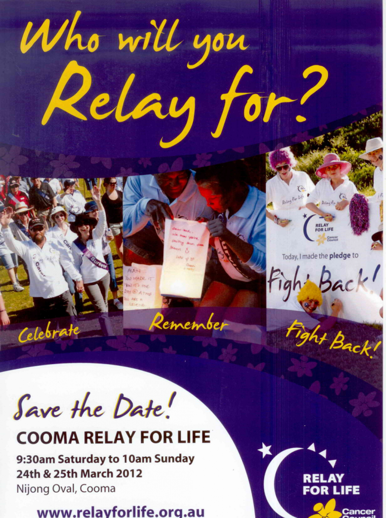 Relay For Life 24 To 25 March Coomamusic