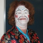 Judith Gibson in makeup as Katisha (The Mikado)