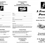 Entry Form - Feast of Poetry 2012 brochure - front