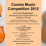 cooma music competition 2012 poster