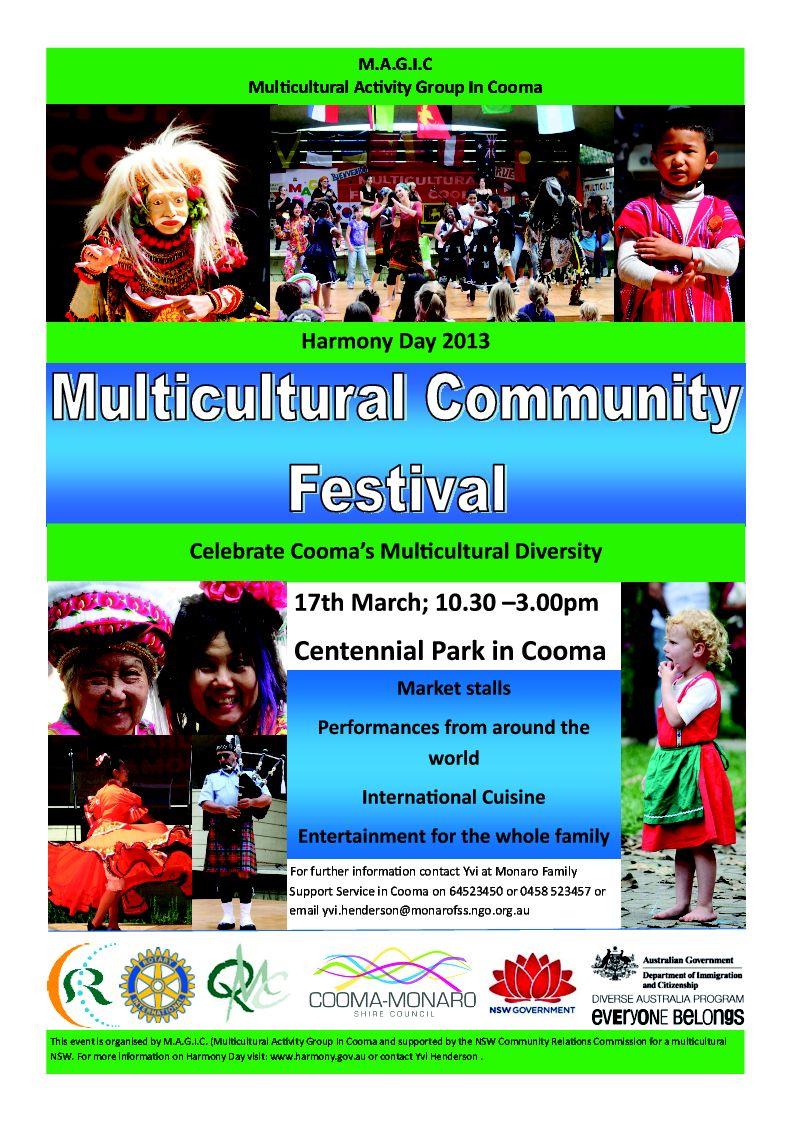 flyer Multicultural Festival 2013 cute