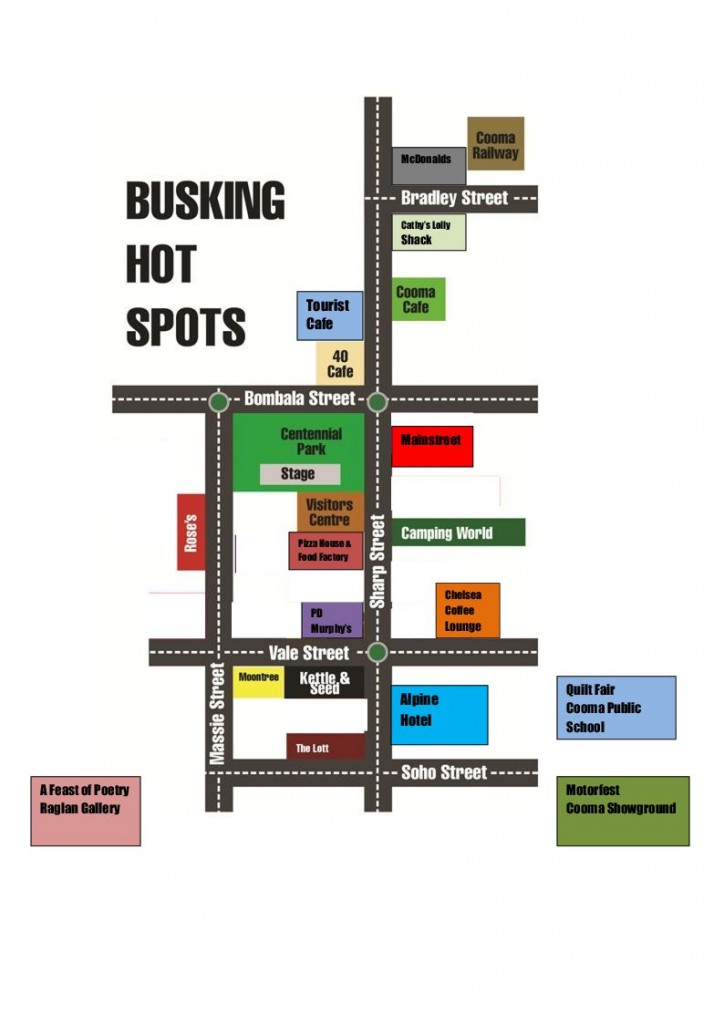 Busker Hot Spots Map 2013 (1)