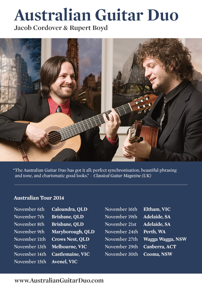 australian guitar duo 2014 tour large
