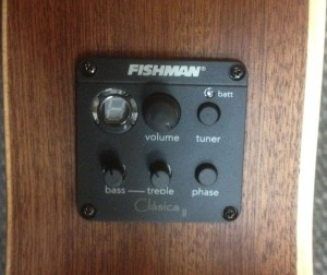 Fishman Pickup with Preamp and Chromatic Tuner