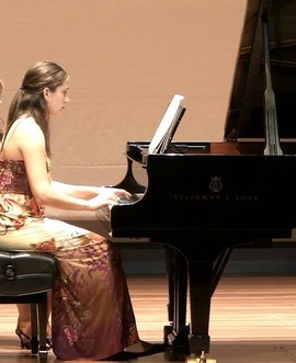 Emily Ventura performing in recital