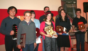 Last year's winners of the Cooma Music Competition