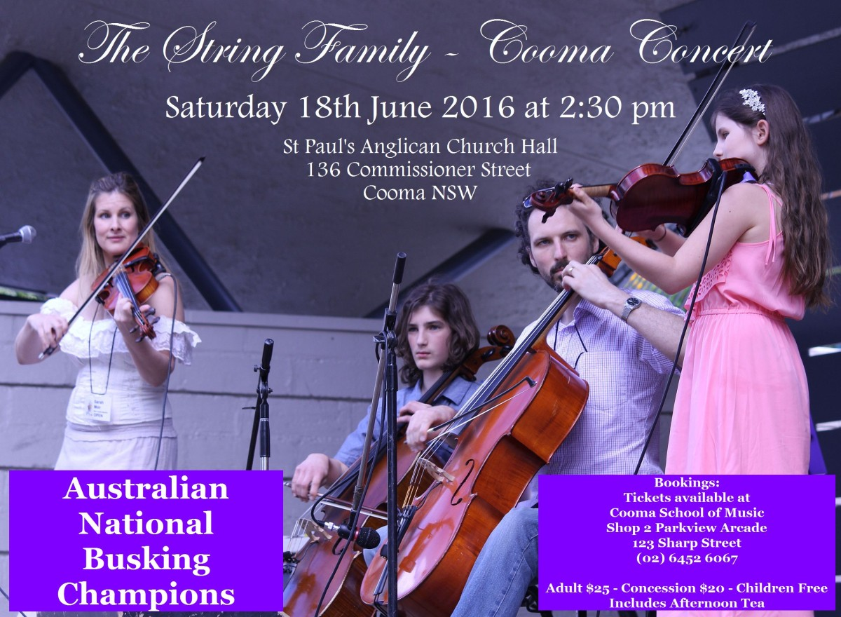 The String Family - Cooma Concert Poster 02