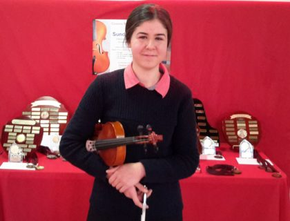 Mia Mrsic won her heats in Piano Secondary & Strings Secondary. Mia went on to win The Peter de Jager Piano Prize & The P D Murphy Award for Strings
